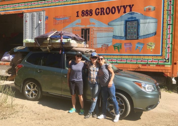 Groovy Yurts Team With Yurt Gear on Van