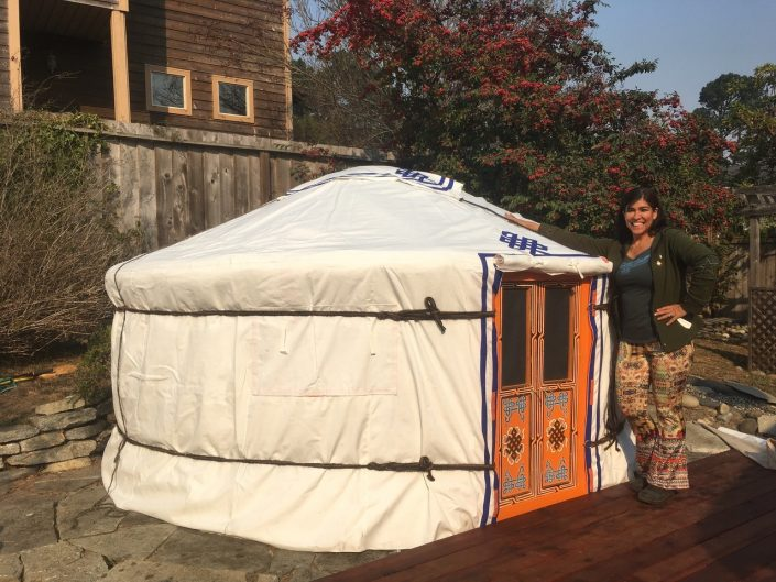 GroovyLite Yurt outside california home by Groovy Yurts