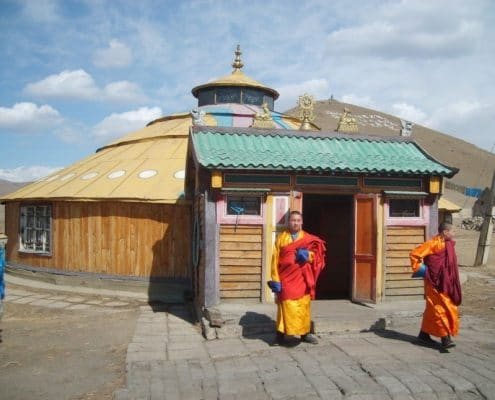 Buddhist temple in a yurt