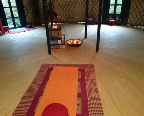 yurt interior for yoga
