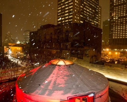 yurt on rooftop in montreal