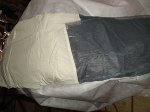 liner with mosquito netting for a yurt