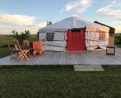 picture perfect yurt set up