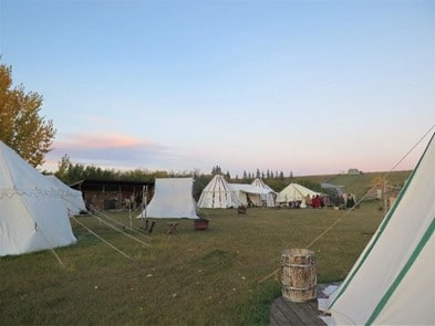 guest tents at good knights three hills alberta