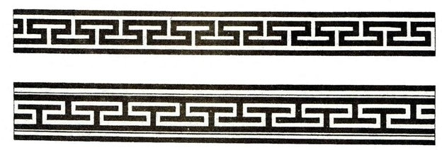 hammer pattern Mongolian symbol of long life