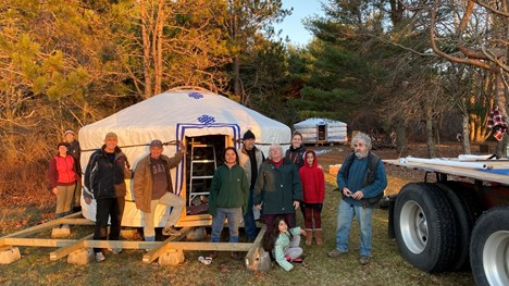 Groovy Yurts delivery tour in Canadian Maritimes