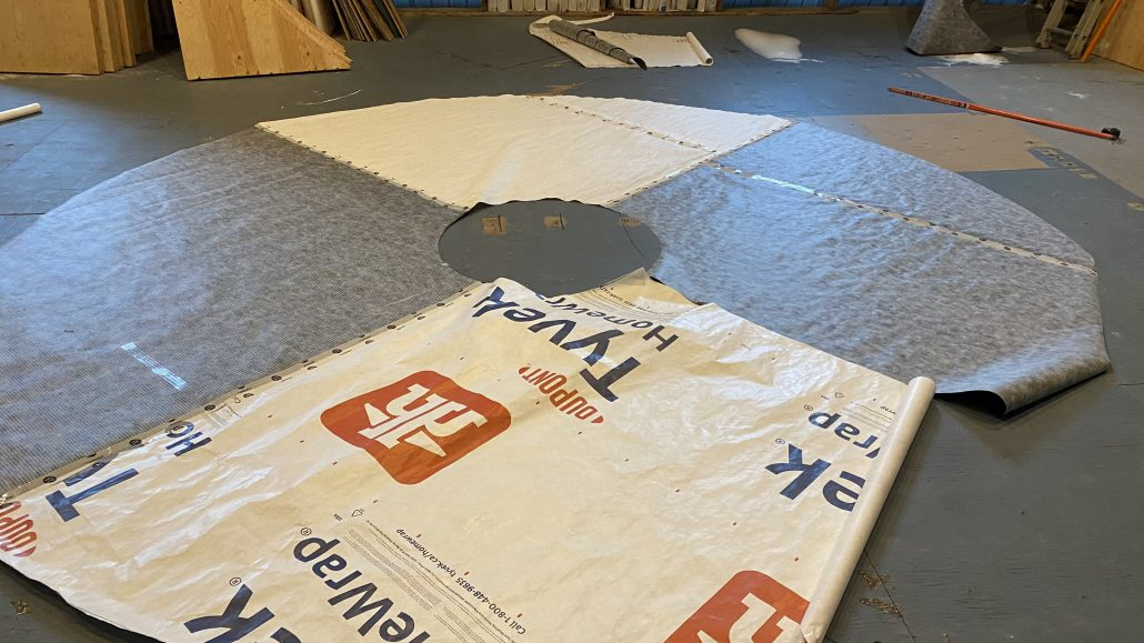 tyvek wrapping for yurt
