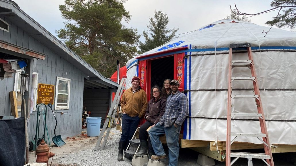 Groovy Yurts delivery tour Eastern Canada USA
